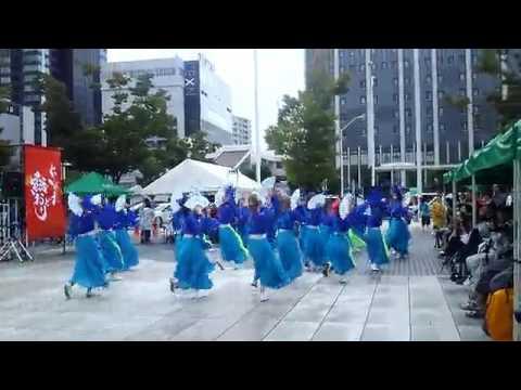 新潟総踊り 2日目 新潟駅南口会場での演舞♪
