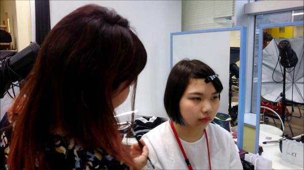 スタイリスト科1年生 スタイリング授業風景(^_-)-☆